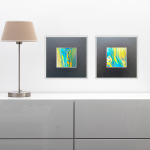 Duo Licht 2 Fluidart Acrylgiessen Passepartout 2