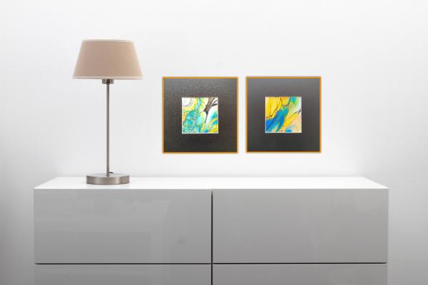 Duo Licht Fluidart Acrylgiessen Passepartout 2