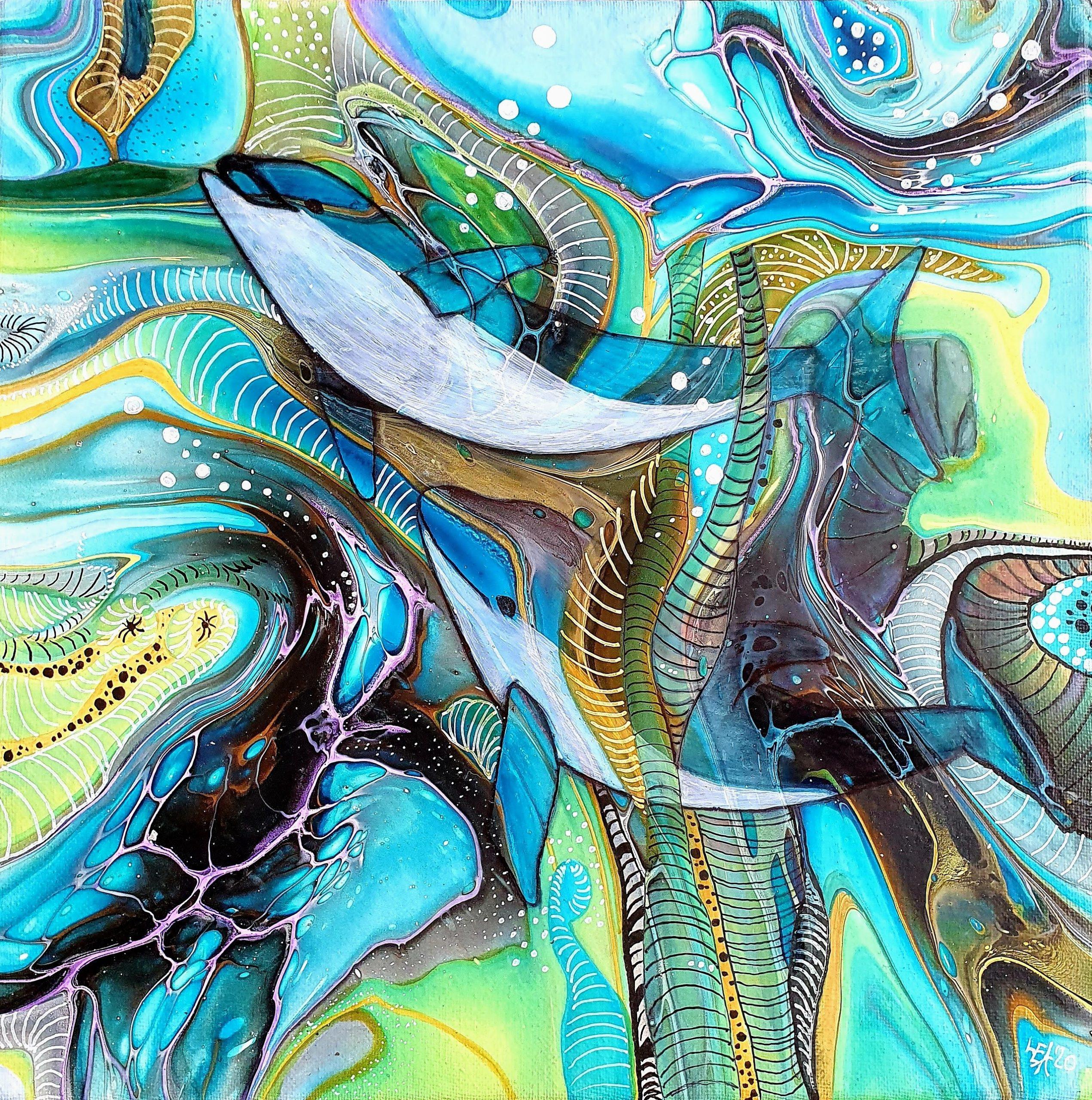 Fantasy Delfine Fluidart Embellish 1