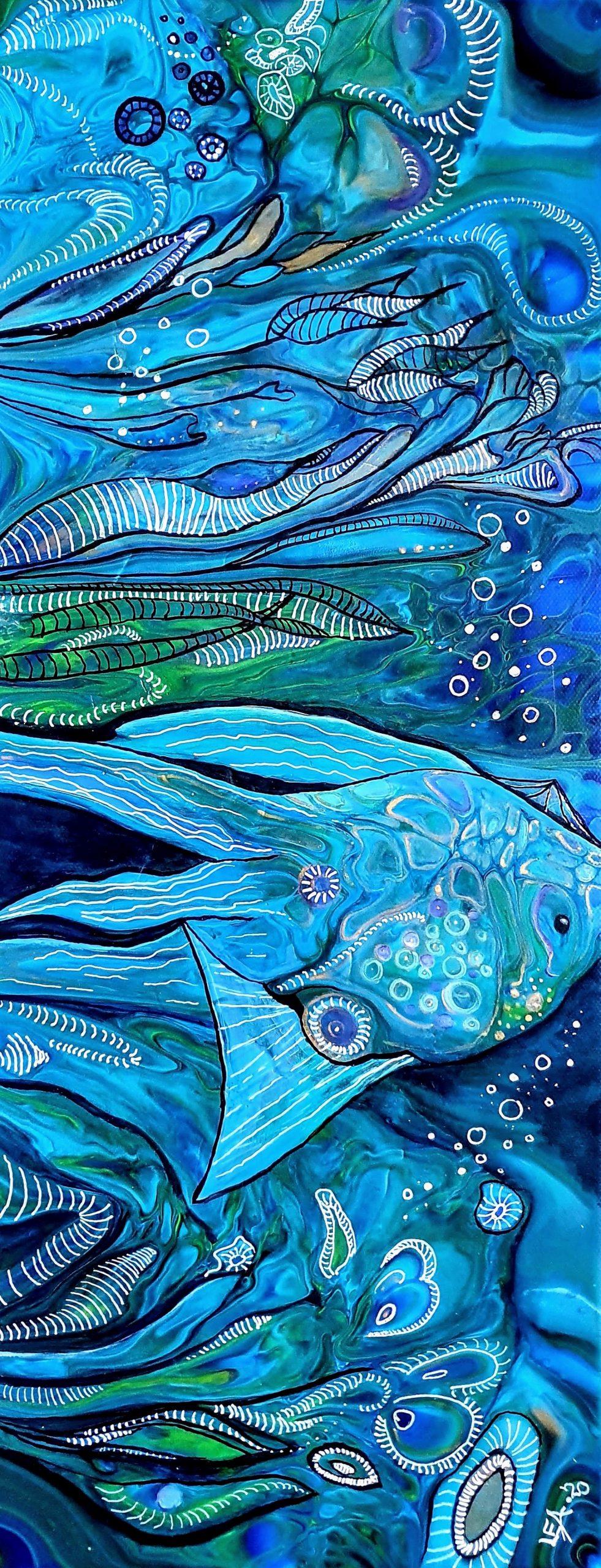 Fantasy Fisch Fluidart Embellish 1