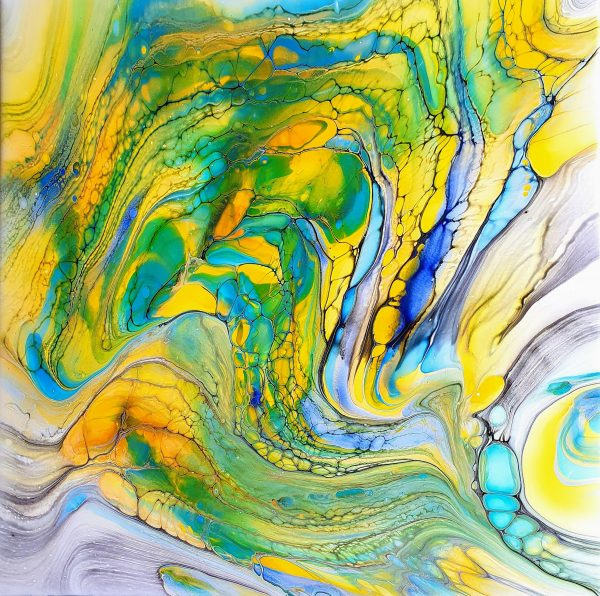 Frühling 9 Fluidart Acrylgiessen Swipe1