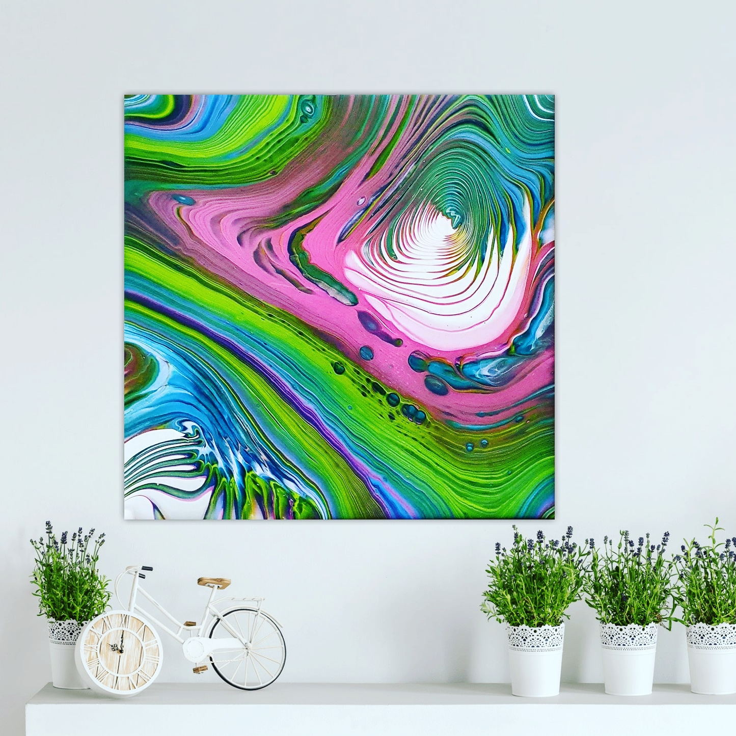 Good Vibes Fluidart Acrylgiessen Swirl 2