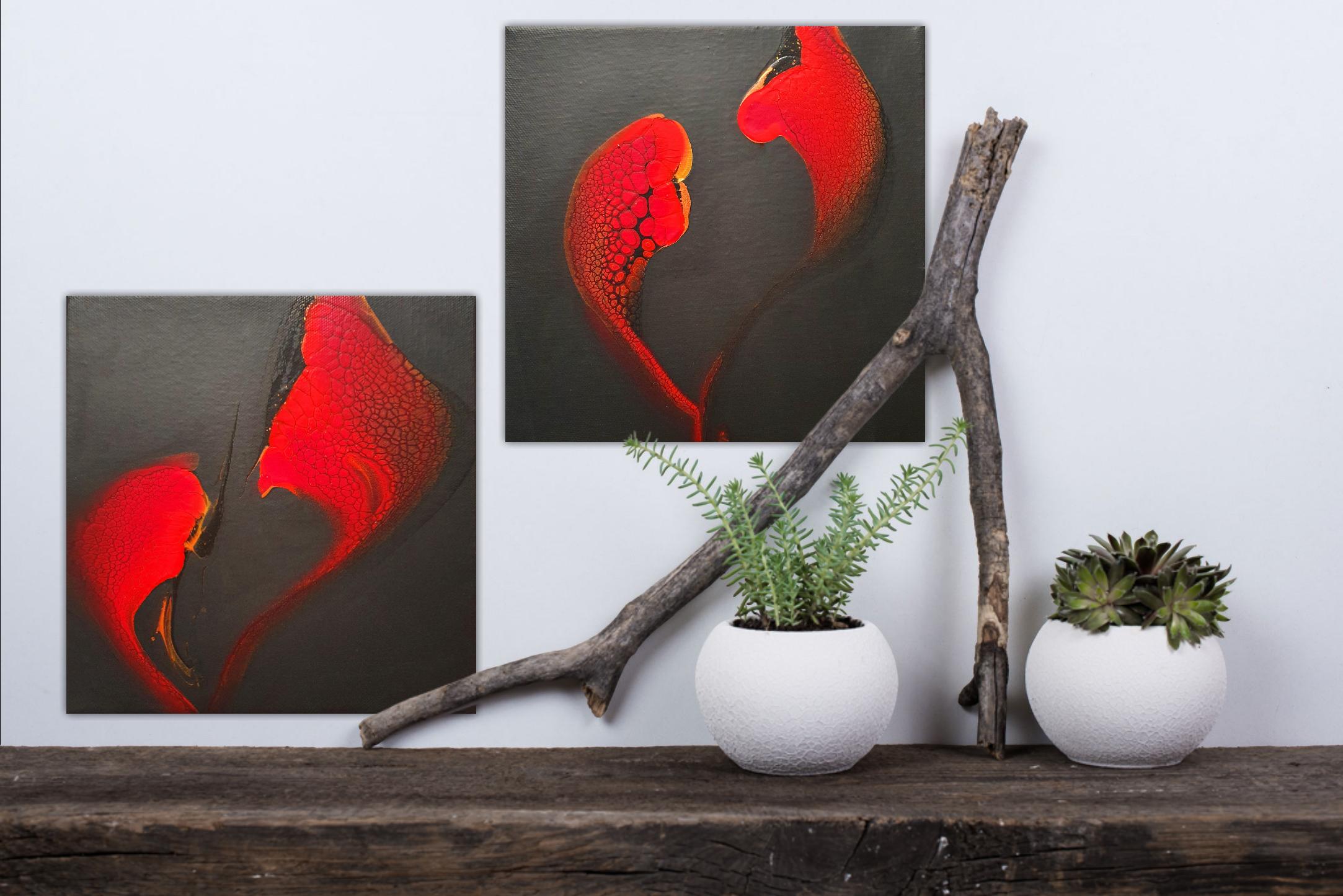 Hearts Fluidart Acrylgiessen Swipe 2