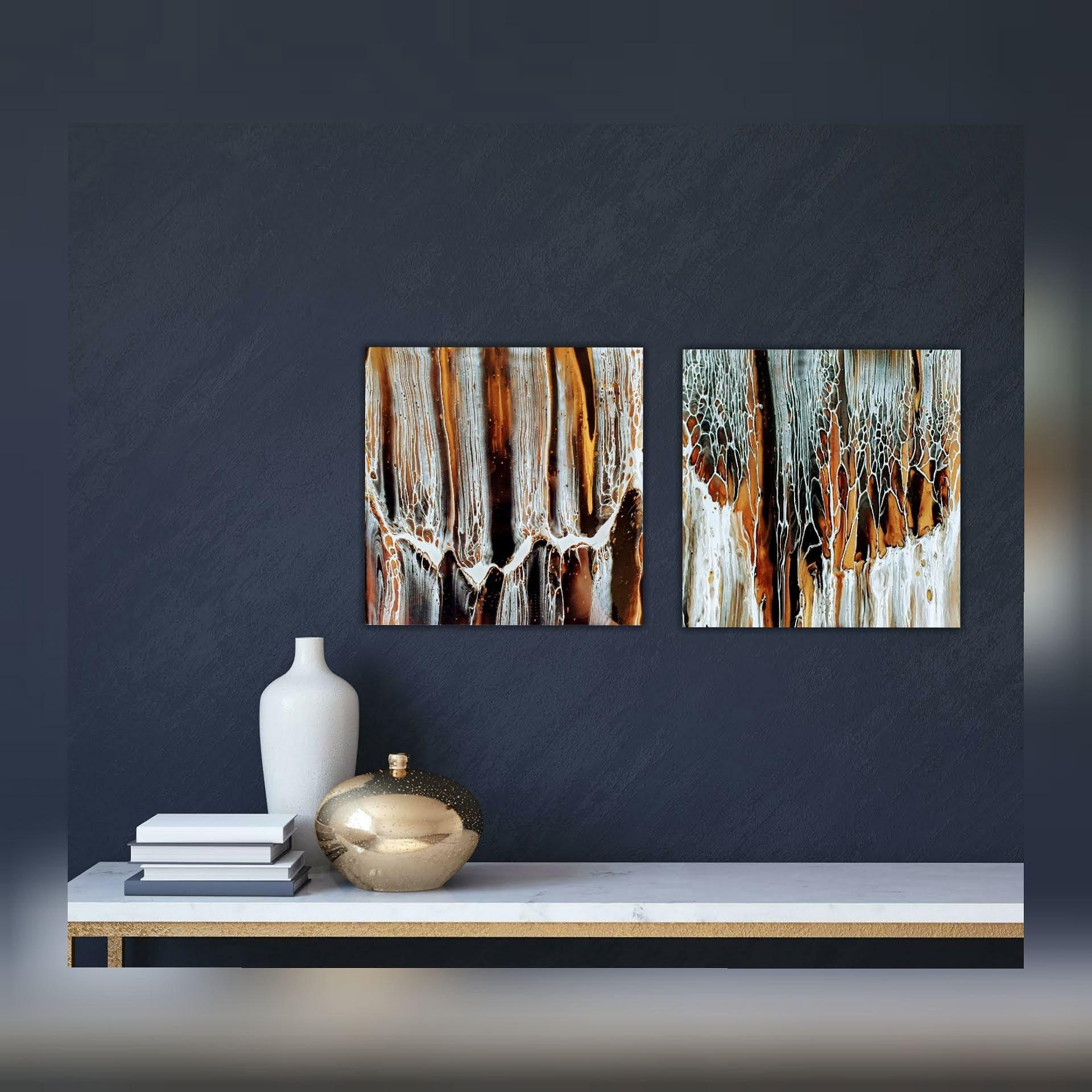 Holz Fluidart Acrylgiessen Swipe 2