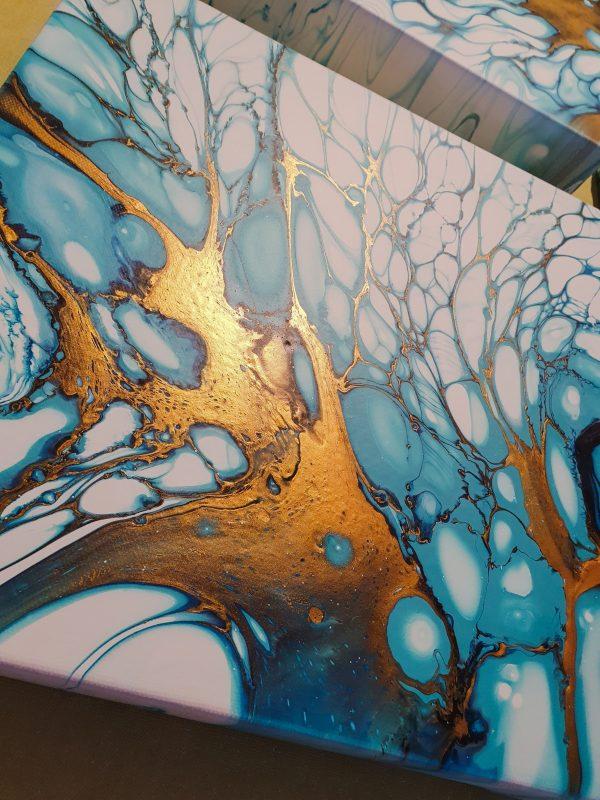Winterserie 5 Fluidart Acrylgiessen Swipe 5